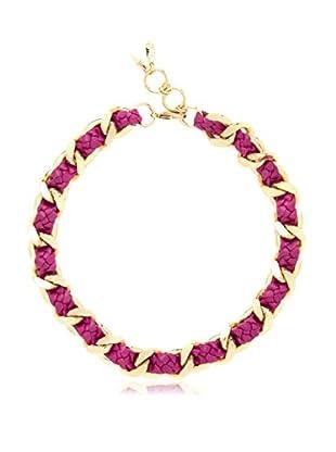 Ettika Pink & 18K Gold-Plated Iconic Necklace