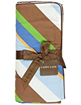 Caden Lane Boutique Collection Star Dot Piped Blanket, Blue