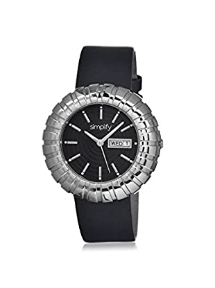 Simplify Women's 2102 The 2100 Black Leather Watch