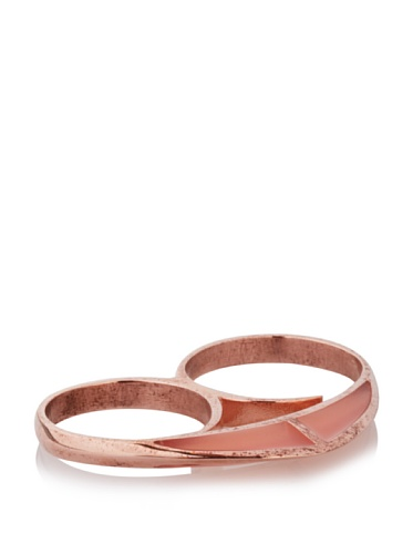 Katie Rowland Lilith Enamel Heart Ring (Rose)