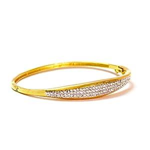 Daamak Jewellery Majestic Crystals Kada Bracelet