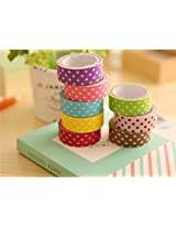 Set of 6 Colorful and Attractive Adhesive Paper Tapes for Decorative Purposes like Art and Craft Projects, Gifts and More