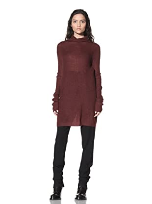Ann Demeulemeester Women's Long Sweater (Burgundy)