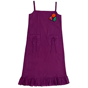 sonali mansingka girl's maxi dress with pockets-purple