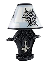 Gothic Inverted Cross Tea Light Candle Holder Lamp
