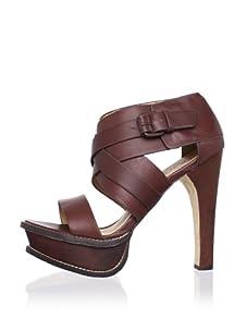 L.A.M.B. Women's Anika Platform Sandal (Cognac)