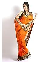 UDAY Bengal Saree (UDSIZB5_Orange)