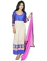 Tehzeeb Women's Faux Georgette Anarkali Salwar Suit (HPSU1690_XXL, Multi, XXL)