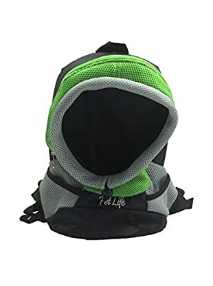 Pet Life Bark-Pack On-The-Go Supreme Travel Backpack Pet Carrier, Green, Medium