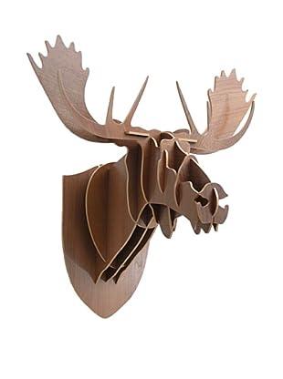 Eco Décor Laser-Cut Animal Trophy Reindeer Head- Oak