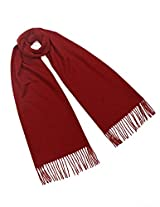 Dahlia 100% Luxurious Wool Scarf - Classic Solid Color - Burgundy