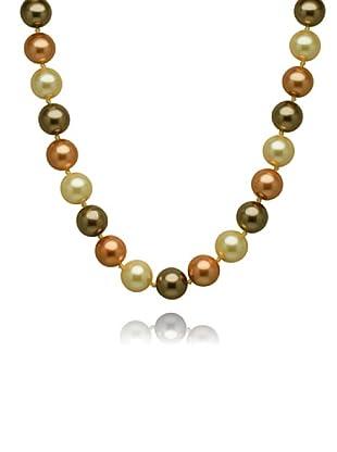Perldor 60650016 - Collar de mujer de plata de ley con perla natural Marrón 52 cm