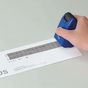 PLUS 個人情報保護スタンプ ローラーケシポン ブルー