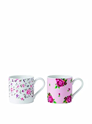 Royal Albert New Country Roses Mug, Set of 2 Rose Confetti/Pink