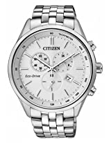 Citizen Eco-Drive Analog White Dial Men's Watch - AT2140-55A
