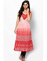 Cotton Blend Pink Kurti