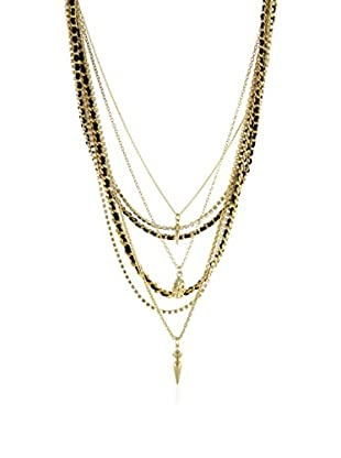 Ettika Black & 18K Gold-Plated Seaweed Chain Necklace
