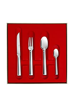 Guy DeGrenne 24-Piece Quadro Flatware Set, Mirror
