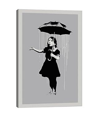 Banksy Nola Girl With Umbrella Giclée On Canvas