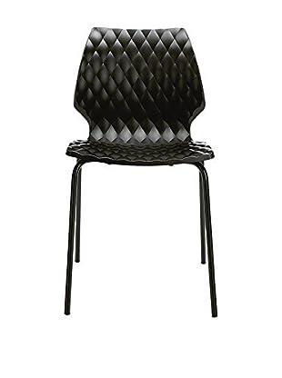 Metalmobil Stuhl 2er Set Uni-550 schwarz/schwarz