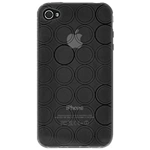 Amzer 88747 Circle TPU Skinase - Smoke for iPhone 4S, iPhone 4