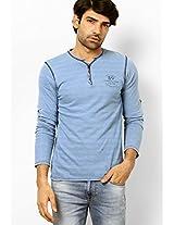 Light Blue Henley T-Shirt