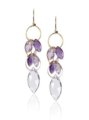 Misha Amethyst Large Dangle Earrings