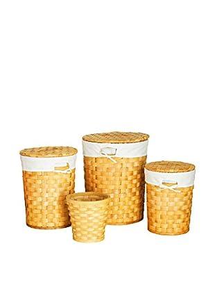 Premier Housewares Wäschekorb 4 tlg. Set 1900625 natur