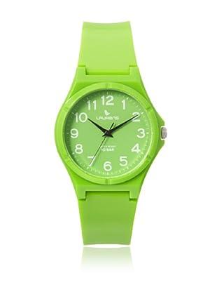 Laurens VQ88J902Y Green Rubber Water Resistant Watch