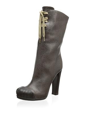 Fendi Women's Lace-Up Heeled Boot (Dark Brown)