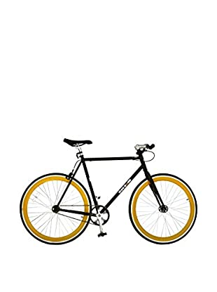 Galaxie Fixed Gear Bike, Black/Orange, 58cm