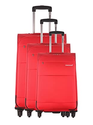 Platinium Set 3 trolley 4 ruote Cargese (Rosso)