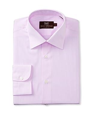 Hickey Freeman Men's Stripe Dress Shirt (Pink)