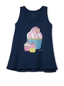 Lunchbox Girl's Cupcake Tunic (Navy)
