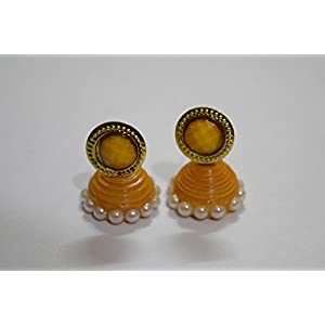 Quillings by SSE - Taditional Yellow Jumka Earring