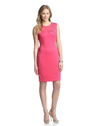 Marc New York Women's V-Neck Shift Dress (Raspberry)