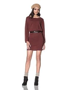 Qi Cashmere Women's Crew Neck Sweater Dress (Autumn)