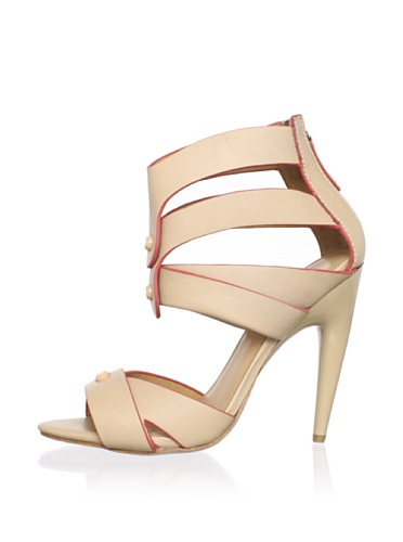 L.A.M.B. Women's Mirage Ankle-Strap Sandal (Natural)