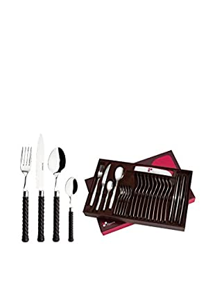Guy DeGrenne 24-Piece Twist Flatware Set, Brown