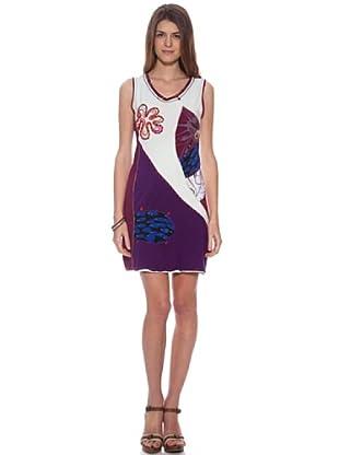 HHG Vestido Asia (Natural / Violeta)