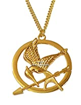 Famous The Hunger Game Golden Mockingjay Bird Necklace By Via Mazzini (NK0385)