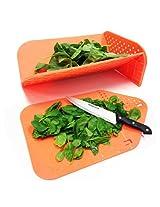 EZ LIFE Folding Chopping Board Orange