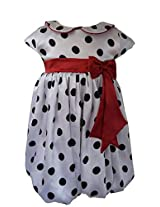 Faye Black & White Spotted Bubble Dress 6-7Y