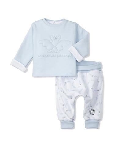 Berlingot Baby Reversible 2-Piece Set (Baby Blue)