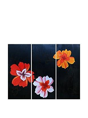 Legendarte Set Pintura al Óleo sobre Linezo 3 Uds. Eleganza In Fiore multicolor