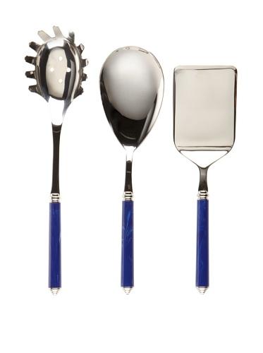 Modigliani Condotti 3-Piece Pasta Serving Set (Blue)