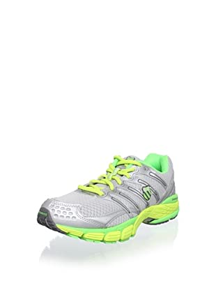 K-SWISS Men's Keahou II R Running Shoe (Silver/Neon Lime/Optic Yellow)