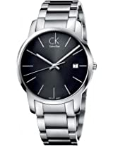 Calvin Klein Herrenuhr ck City K2G2G143 Black Round Dial Analogue Watch - For Men