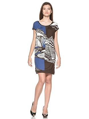Eccentrica Vestido Shannon (Azul/Negro)