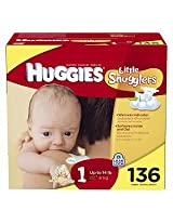 Huggies Little Snugglers Large Case Diapers Size 1 136ct.
